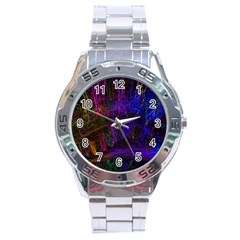 Color Splash Trail Stainless Steel Analogue Watch