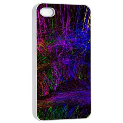 Color Splash Trail Apple Iphone 4/4s Seamless Case (white)