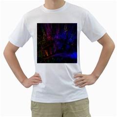 Color Splash Trail Men s T Shirt (white)