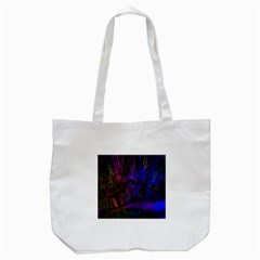 Color Splash Trail Tote Bag (white) by goodart