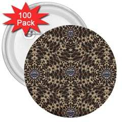 I Am Big Cat With Sweet Catpaws Decorative 3  Buttons (100 Pack)
