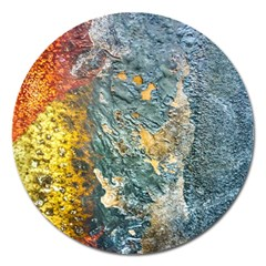 Colorful Abstract Texture  Magnet 5  (round)