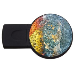 Colorful Abstract Texture  Usb Flash Drive Round (2 Gb)