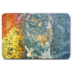 Colorful Abstract Texture  Large Doormat