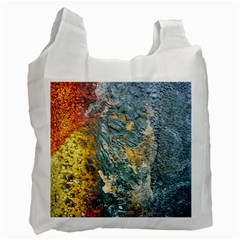Colorful Abstract Texture  Recycle Bag (two Side)
