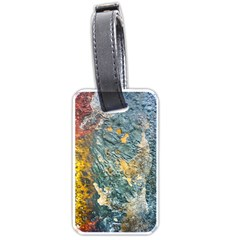 Colorful Abstract Texture  Luggage Tags (one Side)
