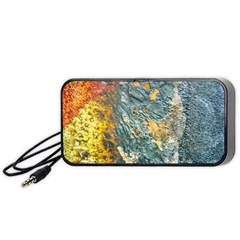 Colorful Abstract Texture  Portable Speaker