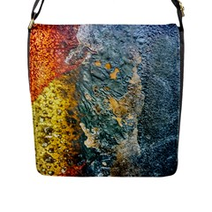 Colorful Abstract Texture  Flap Messenger Bag (l)