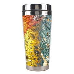 Colorful Abstract Texture  Stainless Steel Travel Tumblers by dflcprints