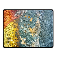 Colorful Abstract Texture  Double Sided Fleece Blanket (small)