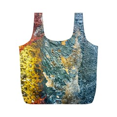 Colorful Abstract Texture  Full Print Recycle Bags (m)