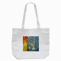 Colorful Abstract Texture  Tote Bag (white)
