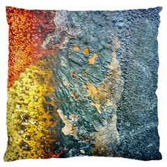 Colorful Abstract Texture  Large Flano Cushion Case (one Side)
