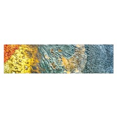 Colorful Abstract Texture  Satin Scarf (oblong)
