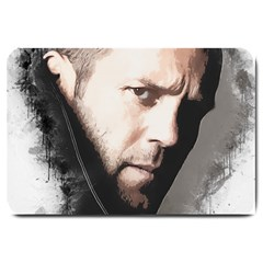 A Tribute To Jason Statham Large Doormat  by Naumovski