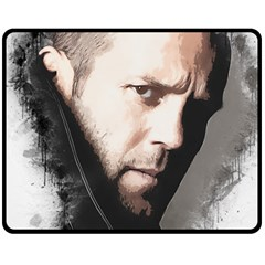 A Tribute To Jason Statham Fleece Blanket (medium)  by Naumovski