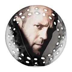 A Tribute To Jason Statham Round Filigree Ornament (two Sides) by Naumovski