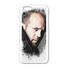 A Tribute To Jason Statham Apple Iphone 6/6s White Enamel Case by Naumovski