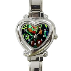Girls Curiousity 12 Heart Italian Charm Watch