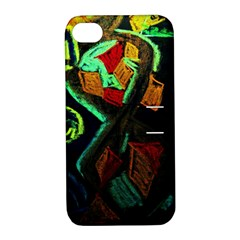 Girls Curiousity 12 Apple Iphone 4/4s Hardshell Case With Stand