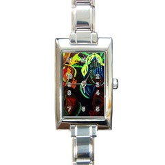 Girls Curiosity 11 Rectangle Italian Charm Watch