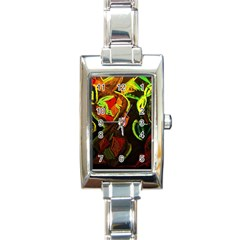 Girls Curiosity 4 Rectangle Italian Charm Watch