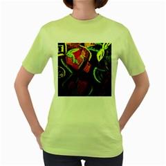 Girls Curiosity 4 Women s Green T Shirt