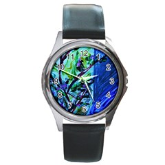 House Will Be Built 1 Round Metal Watch