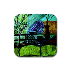 House Will Be Built Rubber Square Coaster (4 Pack)