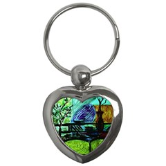 House Will Be Built Key Chains (heart)