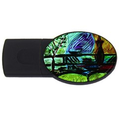House Will Be Built Usb Flash Drive Oval (4 Gb)