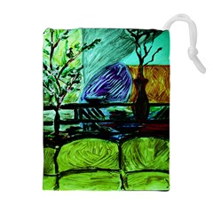 House Will Be Built Drawstring Pouches (extra Large)
