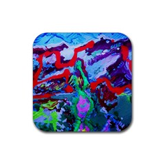 Desert Blooming 1/1 Rubber Square Coaster (4 Pack)