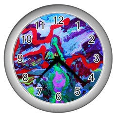 Desert Blooming 1/1 Wall Clocks (silver)