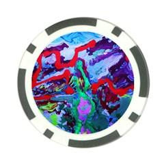 Desert Blooming 1/1 Poker Chip Card Guard (10 Pack)