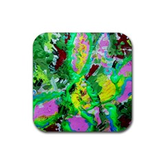Desert Blooming 1/2 Rubber Square Coaster (4 Pack)