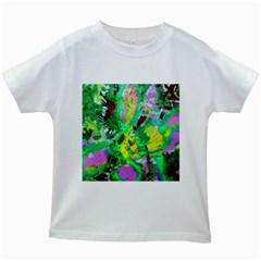 Desert Blooming 1/2 Kids White T Shirts