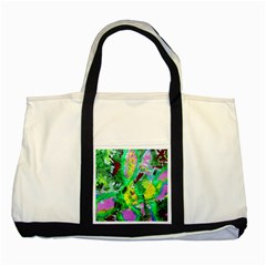 Desert Blooming 1/2 Two Tone Tote Bag by bestdesignintheworld