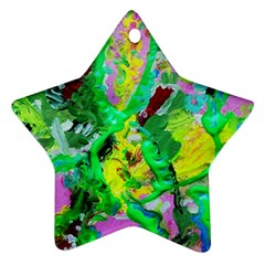 Desert Blooming 1/2 Star Ornament (two Sides)
