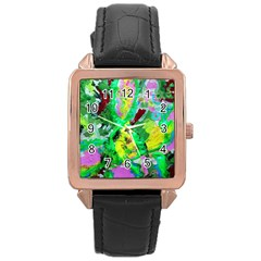Desert Blooming 1/2 Rose Gold Leather Watch