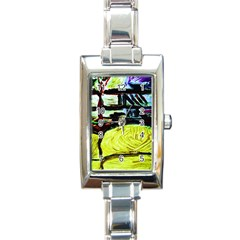 House Will Be Built 5 Rectangle Italian Charm Watch