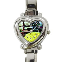 House Will Be Built 5 Heart Italian Charm Watch