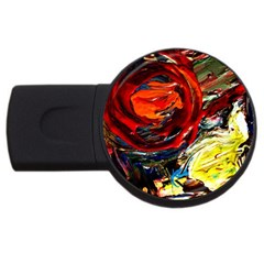 Sunset In A Mountains Usb Flash Drive Round (2 Gb)