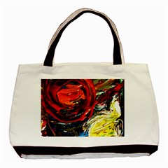 Sunset In A Mountains Basic Tote Bag by bestdesignintheworld