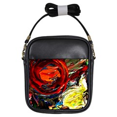 Sunset In A Mountains Girls Sling Bags