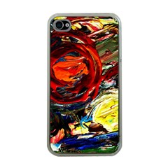 Sunset In A Mountains Apple Iphone 4 Case (clear)