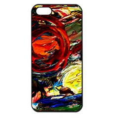 Sunset In A Mountains Apple Iphone 5 Seamless Case (black)