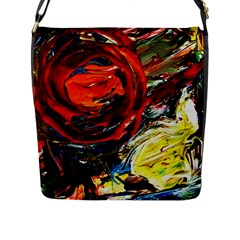 Sunset In A Mountains Flap Messenger Bag (l)