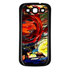 Sunset In A Mountains Samsung Galaxy S3 Back Case (black)
