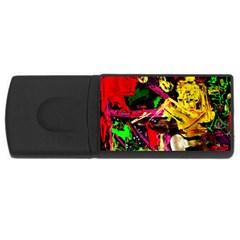 Spooky Attick 1 Rectangular Usb Flash Drive by bestdesignintheworld